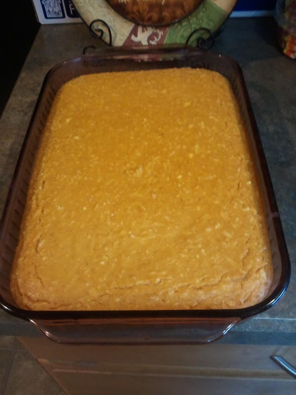 Pumpkin Bars hot from the oven.Allowed to sit on counter top and cool.