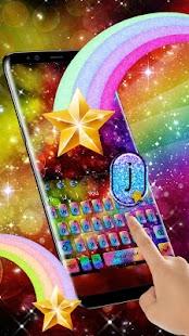 Glitter Rainbow Keyboard Theme - náhled