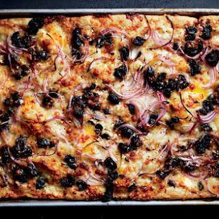 Black Olive and Provolone Grandma Pie
