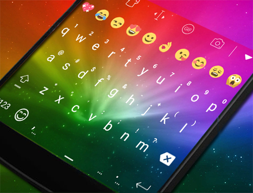 Rainbow Keyboard Theme In 2016