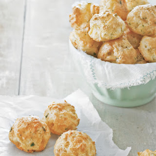 Beaufort, Chive and Black Pepper Gougères