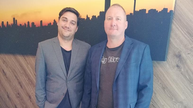 Thomas Fowler (left), MD of DotModus, with co-founder Alon Fowler.
