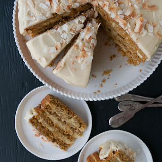Coconut-Carrot Cake w Pineapple-Coconut Cream Glaze