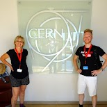 my mom & I at CERN, proud moment in Geneva, Geneva, Switzerland