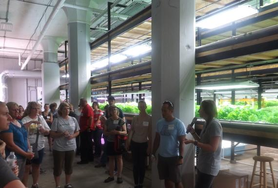 Participants in the 2016 Minnesota Ag in the Classroom Summer Teacher Tour visit Urban Organics in St. Paul