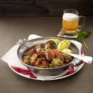 Beer Braised Pork Stew with Potatoes.