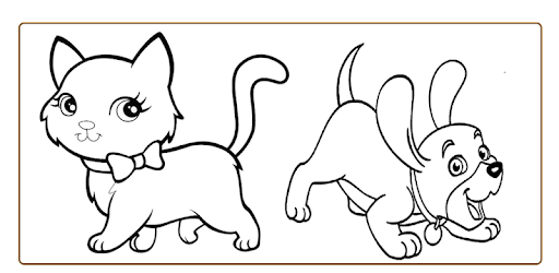 terkeren 30 gambar kartun anjing untuk mewarnai