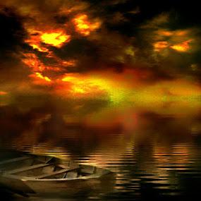 Silent by Sjamsul Rizal - Transportation Boats