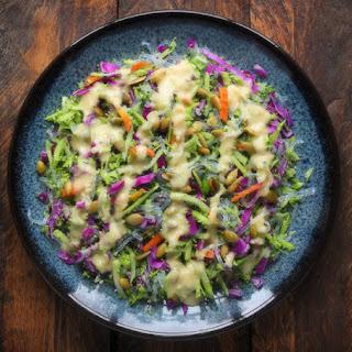 Kelp Noodle And Broccoli Slaw.