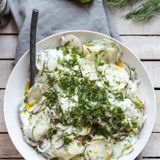 Cucumber Radish Salad with Yogurt