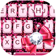 Diamond Butterfly Pink Keyboard Theme