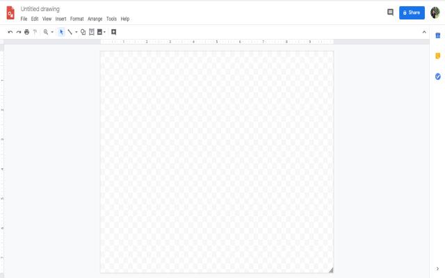 1 click Google Draw