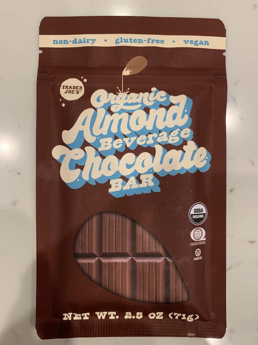 Organic Almond Beverage Chocolate Bar