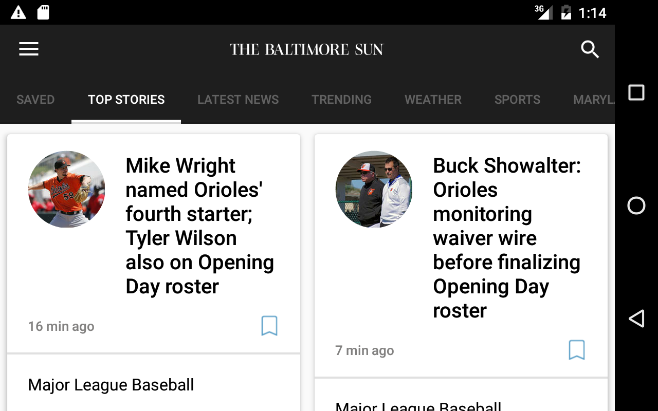Baltimore Sun- screenshot