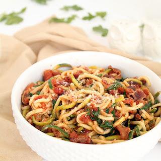 Creamy BLT Zucchini Pasta