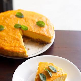 Eggless Mango Cheesecake Recipe