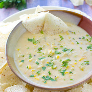 Green Chile Sweet Corn Queso Dip.