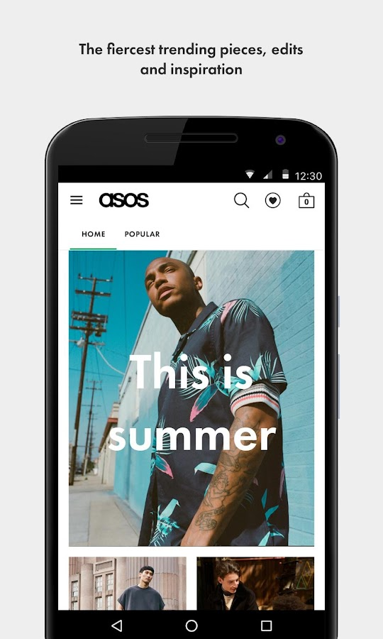 Screenshots of ASOS for iPhone