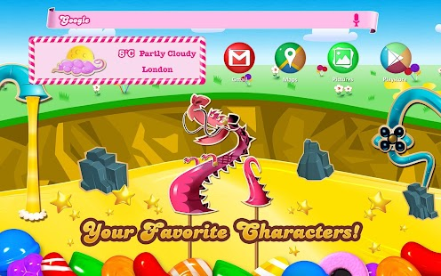 Candy Crush Android Theme- screenshot thumbnail