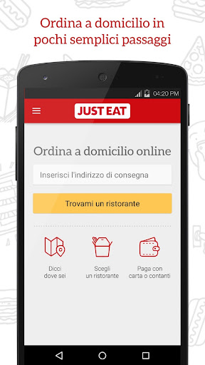 JUST EAT - Pizza a Domicilio app (apk) free download for Android/PC/Windows screenshot