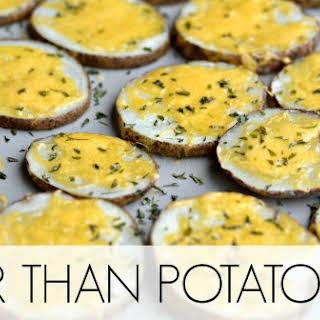 """Cheesy Potato """"Chips""""."""