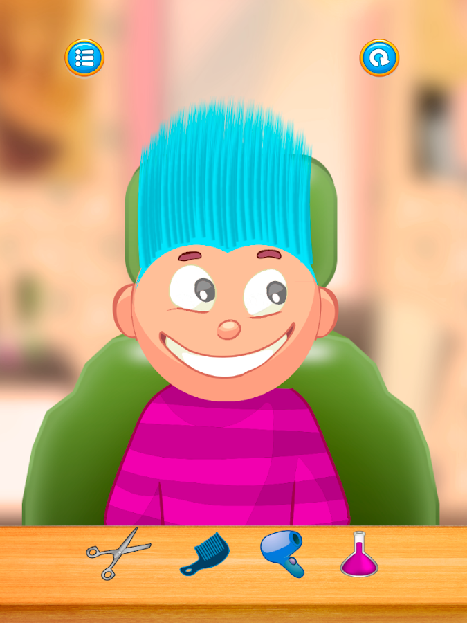 Child game /blue hair cut- screenshot