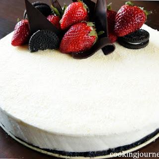 No Bake White Chocolate Mousse Cake Recipe