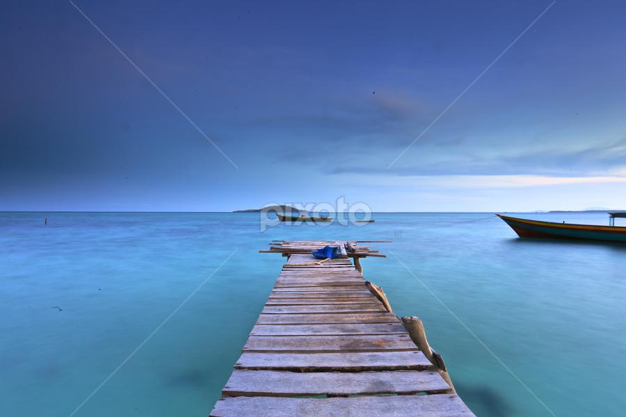Maiga Island, Tawau, Borneo by Sofarianty Agustin - Landscapes Waterscapes ( #maiga #island #borneo #longexposure #pier,  )