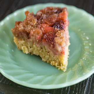 Strawberry Rhubarb Upside Down Cake Recipe