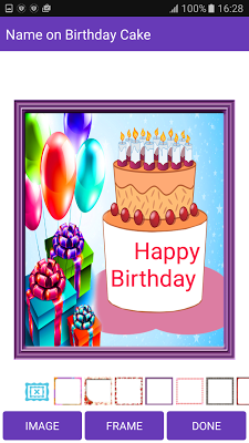 Name on Birthday Cake - screenshot