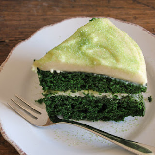 Green Velvet Cake with Baileys Cream Cheese Frosting Recipe