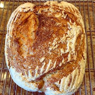 "No-knead ""Ourdough"" Sourdough bread."