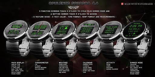 Opulence Squadra Watch Face