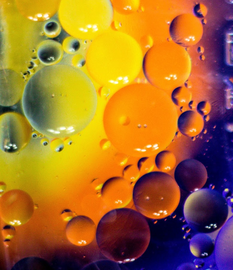 by Bonnie Filipkowski - Abstract Water Drops & Splashes ( abstract, oil )
