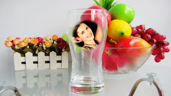 Wine glass Photo Frame Montage screenshot