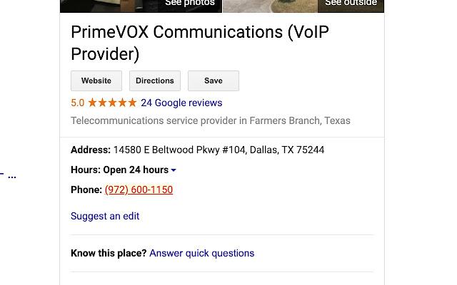 PrimeVOX Click-to-Call
