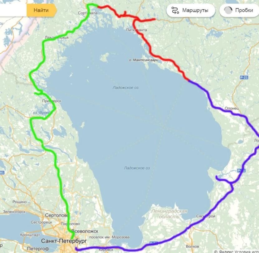 Трехдневный маршрут вокруг Ладожского озера