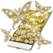 App Butterflies Theme Gold Glitter Launcher APK for Windows Phone