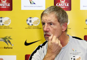 Bafana Bafana coach Stuart Baxter speaks to the media during his announcement of the SA squad to take on Seychelles in crucial back-to-back qualifying matches for the 2019 African Cup of Nations at Southern Sun Hotel in Sandton on Monday October 8, 2018.