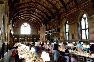 Photo: Evening meal and hearty fellowship at Keble College, Oxford.