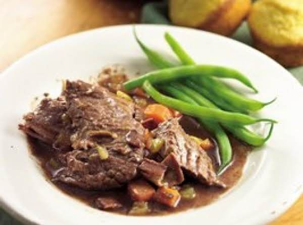 Beef Roast With Bacon-green Chili Gravy Recipe