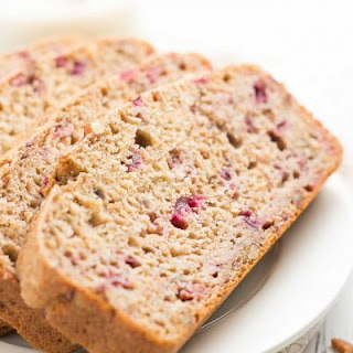 Healthy Cranberry Pecan Banana Bread.