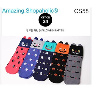韓國直送 Halloween卡通襪 CS58