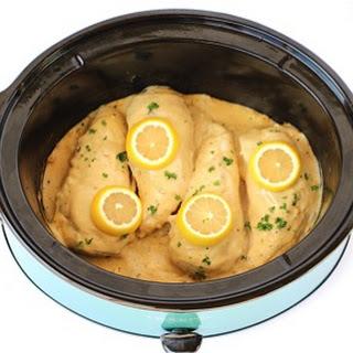 Crockpot Garlic and Lemon Chicken.