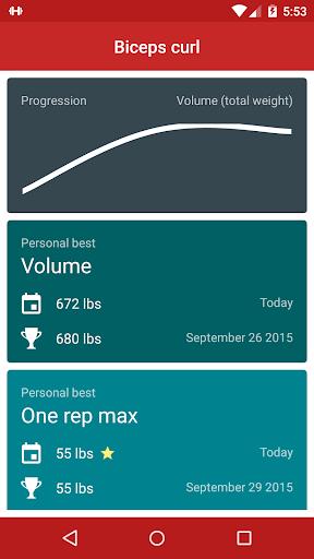 Redy Gym Log, Exercise Tracker screenshot 2