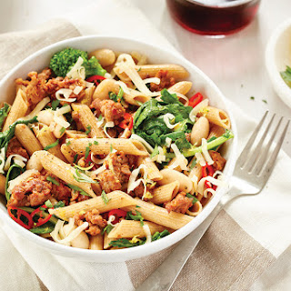 Penne Rigate with Rapini and Chorizo Sausage