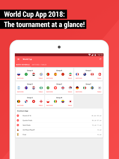 World Cup App 2018 - Live Scores & Fixtures  screenshots 6