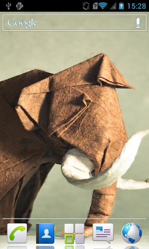 Cute origami live wallpaper