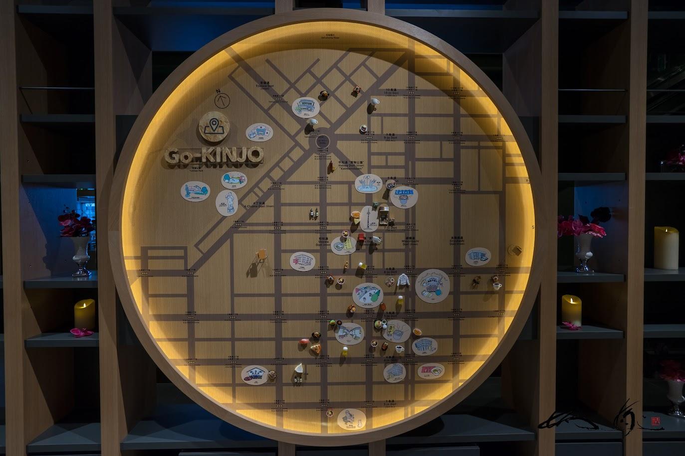 「Go-KINJO」は、直径2mの木製の大きなマップ