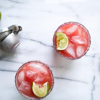 Honey-Watermelon Cocktails with Vanilla Salt.
